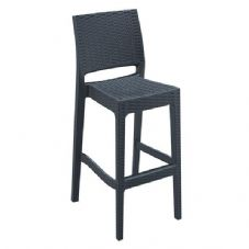 Vanna Mint Bar Stool - Dark Grey